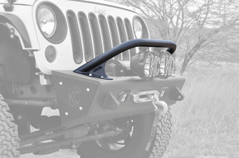 "Jeep JK Stealth Fighter Jeep standard top hoop With ADD Logo for 6"" round lights in Hammer Black"