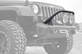 "Jeep JK Stealth Fighter Jeep standard top hoop With ADD Logo for 8"" round lights in Hammer Black"