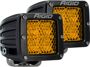 Rigid Industries D-Series Diffused Rear Facing High/Low Surface Mount (Amber) (Pair)
