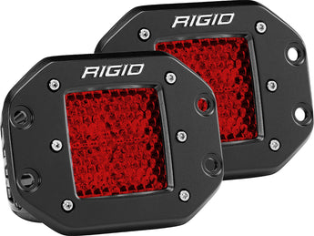 Rigid Industries D-Series Diffused Rear Facing High/Low Flush Mount (Red) (Pair)