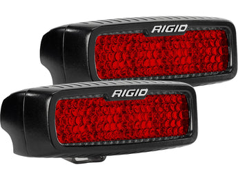 Rigid Industries SR-Q Series Diffused Rear Facing High/Low Flush Mount Red Set Of 2