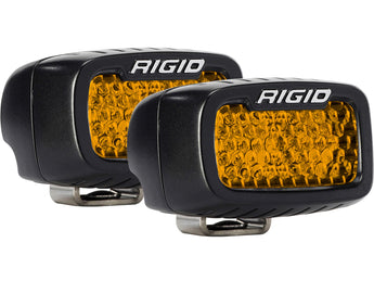 Rigid Industries SR-M Series Diffused Rear Facing High/Low Surface Mount Amber Set Of 2