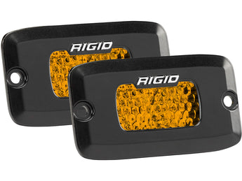 Rigid Industries SR-M Series Diffused Rear Facing High/Low Flush Mount Amber Set Of 2