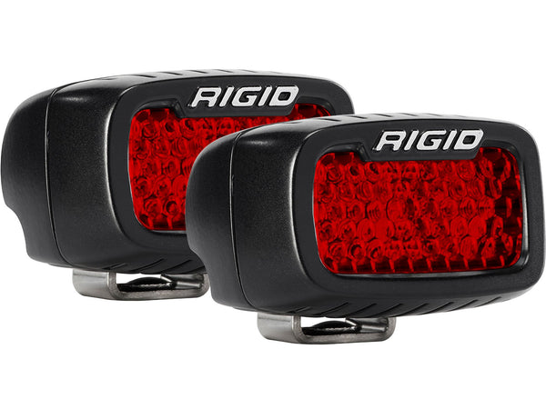 Rigid Industries SR-M Series Diffused Rear Facing High/Low Surface Mount Red Set Of 2