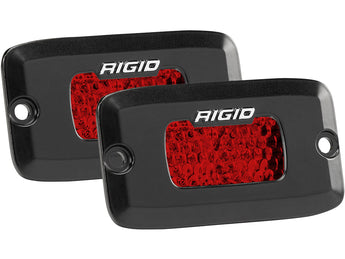 Rigid Industries SR-M Series Diffused Rear Facing High/Low Flush Mount Red Set Of 2
