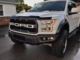 Triple Bezel Fog Light Kit w/ Vision X Optimus Halo Cube Lights - 2017-2020 Raptor