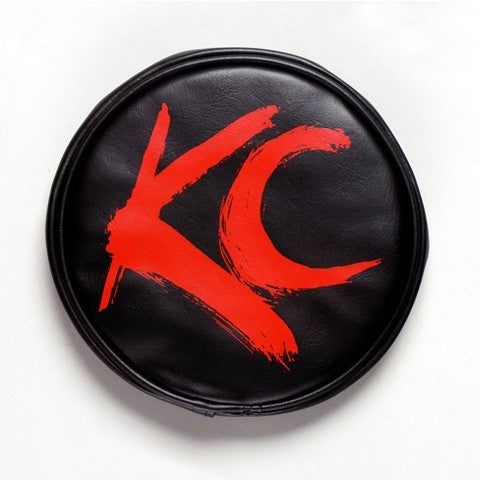 "KC Hilites 6"" Vinyl Cover Black w/ Red Brushed KC"