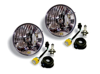 "KC Hilites 7"" Halogen H4 DOT Headlight Pair Pack System - 1997-2006 Jeep TJ"