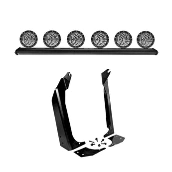 "KC Hilites 50"" Overhead Xross Bar Gravity LED Pro-Sport (6) Light System - 1997-2006 Jeep TJ"