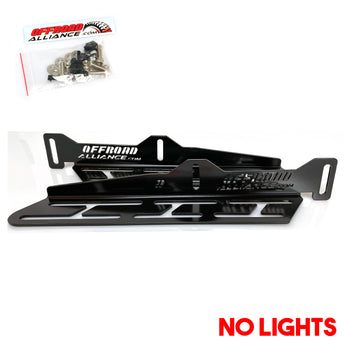 Offroad Alliance Optimized Triple Fog Light Brackets - No Lights - 2017+ Raptor