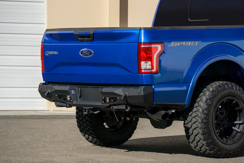 ADD - Stealth Fighter Rear Bumper w/ Backup Sensor Holes - 2015-2019 F150