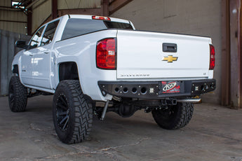 ADD Stealth Rear Bumper with Backup Sensor Cutouts - 2014-2018 Chevy/GMC 1500