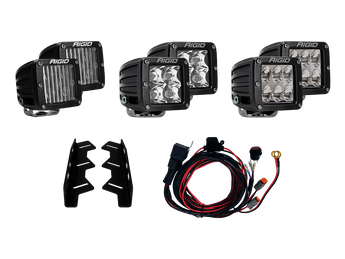 Rigid Industries Triple Fog Light Kit - 2017-2019 Raptor