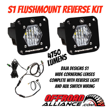 Baja Designs S1 Flushmount Wide Cornering Reverse Light Kit