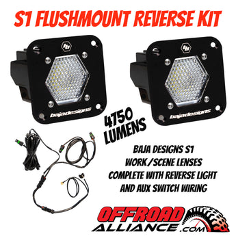 Baja Designs S1 Flushmount Work/Scene Reverse Light Kit