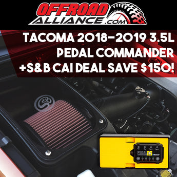 S&B Filters - Air Filter + Pedal Commander  - 2016+ Tacoma