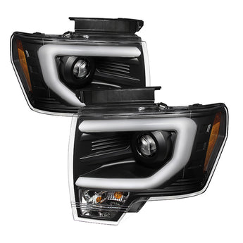 Spyder Black DRL Projector Headlights - 2009-2014 F150/Raptor