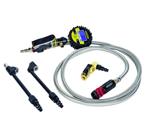 Power Tank Digital Tire Inflator 150 PSI 6 Foot Braided Hose Clip On and 2 Dual Head Chucks