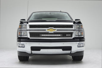 T-REX ZROADZ Series, 2 Piece Grilles - Powdercoat - 2014-2015 Silverado