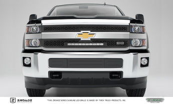 T-REX ZROADZ Series, 2 Piece Insert Grilles - Powdercoat - Requires Drilling or Cutting - 2016-2018 Chevy 2500/3500