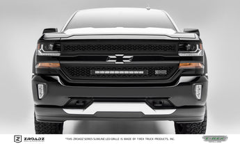 T-REX ZROADZ Series, 2 Piece Insert Grilles - Powdercoat - 2016-2018 Chevy 1500