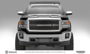 T-REX ZROADZ Series, Insert Grilles - Powdercoat - Requires Drilling or Cutting - 2014-2015 GMC 1500