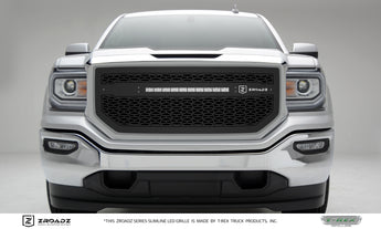 T-REX ZROADZ Series, Insert Grilles - Powdercoat - Requires Drilling or Cutting - 2016-2018 GMC 1500