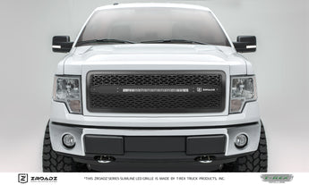 T-REX ZROADZ Series, Insert Grilles - Powdercoat - Requires Drilling or Cutting - 2013-2014 F150