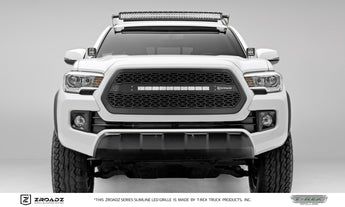 T-REX ZROADZ Series, Insert Grilles - Powdercoat - Requires Drilling or Cutting - 2016-2017 Tacoma