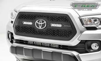 T-REX ZROADZ Grilles - Powdercoat - Requires Drilling or Cutting - 2018-2019 Tacoma