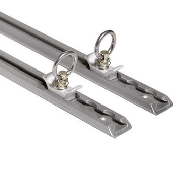 Core Trax 1000 Tie-down Tracks, Silver, Set of Two Trax With Load Locks