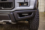 "Diode Dynamics 2017+ Ford Raptor Fog Brackets 6"" Lights Installed"