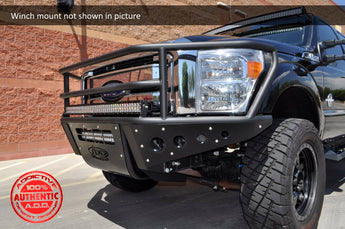 ADD Rancher Front Bumper w/ Stealth Panels and Winch - 2011-2016 F250/350