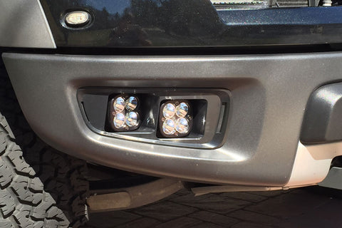 <b>KIT: 4 Baja Designs Squadron Sport Lights</b><br>+2010-2014 Raptor Bezels +Hardware
