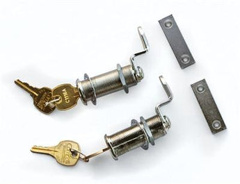 Decked Drawer Locks, Set of Two, Silver Lock Cores With Two Keys