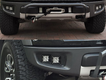 KIT: 4 Rigid Industries D-Series PRO + Bezels + Hardware - 2010-2014 Raptor