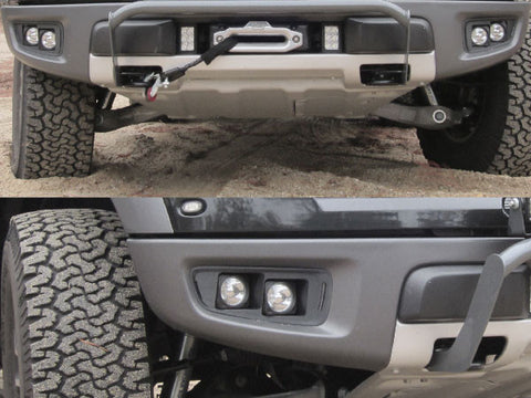 KIT: 4 Vision X Optimus Halo Lights + Bezels + Hardware - 2010-2014 Raptor