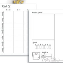 Planner Inserts | Undated Health And Fitness