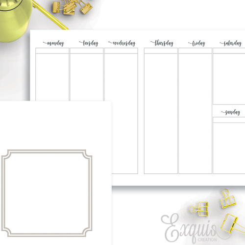 Planner Inserts | Week On Two | Printable B6 TN Inserts