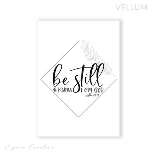 Vellum | Dashboard | Be Still