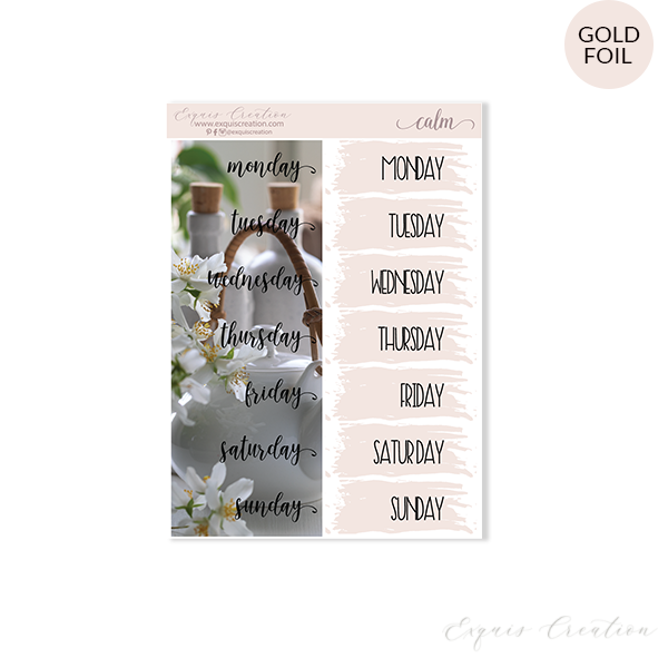 Planner sticker | Calm | Date Covers ADDON