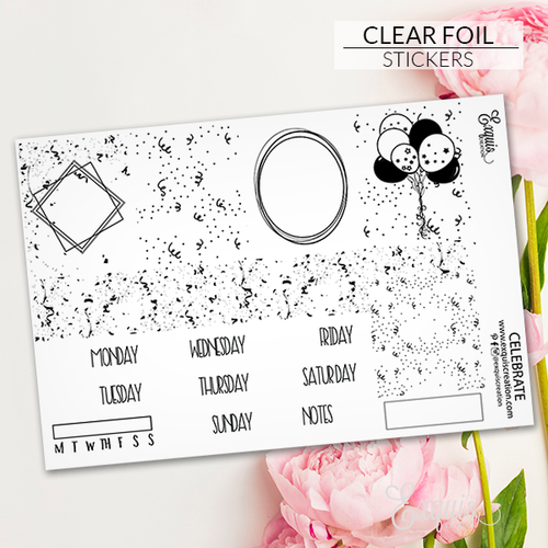 Foil Overlay Sticker Sheet | Celebrate