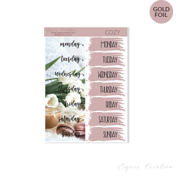 Planner sticker | Cozy | Date Covers ADDON