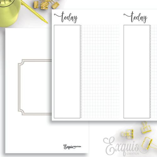 Planner Inserts | Undated Daily | Printable TN Inserts