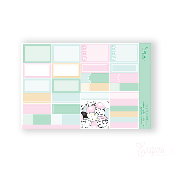 Planner Sticker | Functional Sheet | Easter Bunny