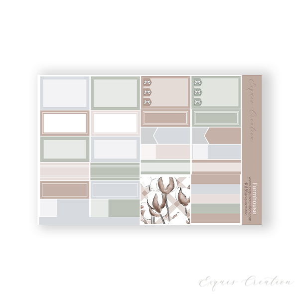 Planner Sticker | Functional Sheet | Farmhouse