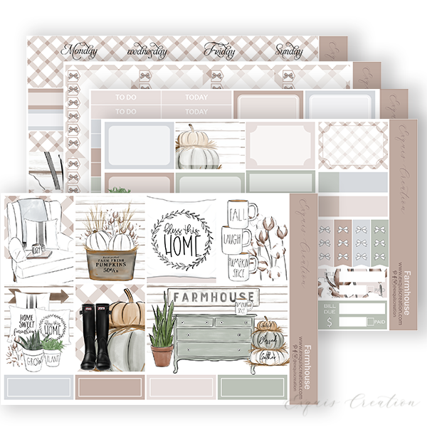 Planner sticker | Full kit | Farmhouse