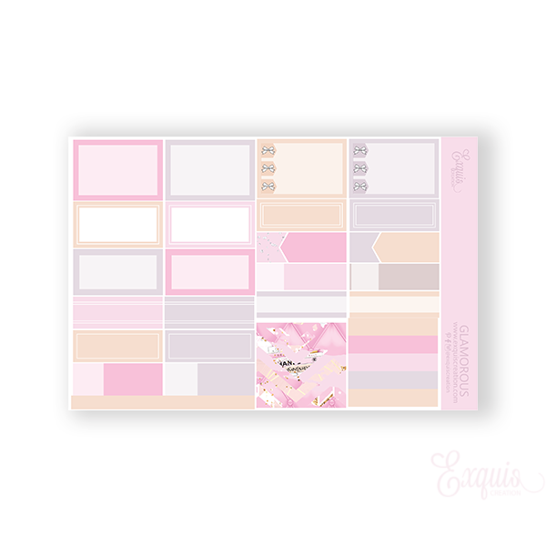 Planner Sticker | Functional Sheet | Glamorous