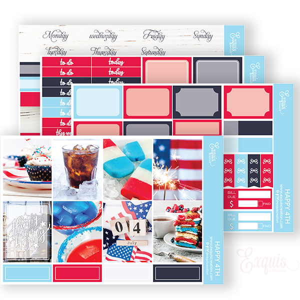 Planner Sticker | Mini Kit | Happy 4TH