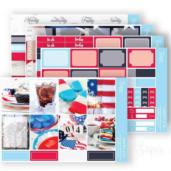 Planner sticker | Full kit | Happy 4TH